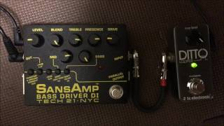 Tech 21 NYC SANSAMP BASS DRIVER DI Ver.2 Bass Sound Demo