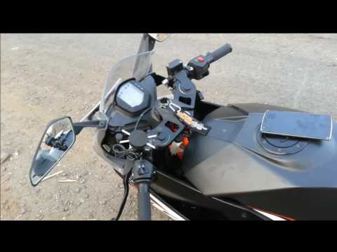 Phone holder+Charger for KTM RC 200 | RAM mount