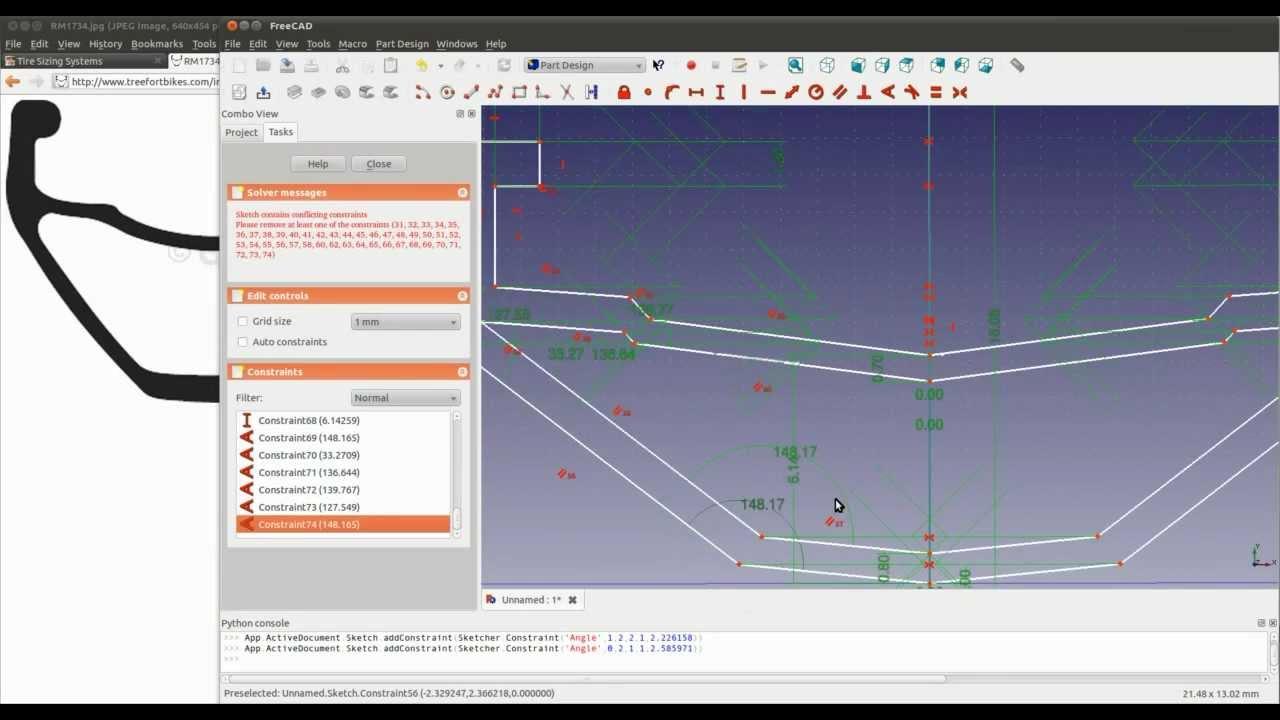 FreeCAD tutorial 2 - Making a bike rim  Pt1 of 2