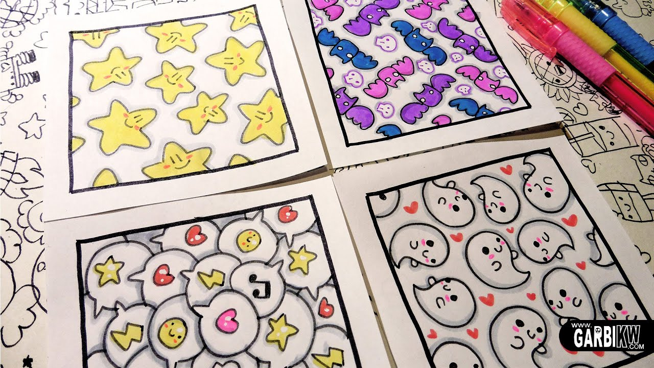 How to draw patterns for your doodles ghosts stars for Cute easy patterns to draw