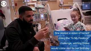 WEB EXTRA: Drake Visits Girl In Hospital Awaiting Heart Transplant