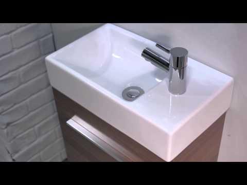 Soakology Phase 450mm Wall Hung Cloakroom Vanity Unit Walnut