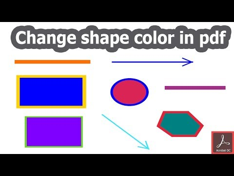 How to change shape color of pdf document in acrobat pro dc