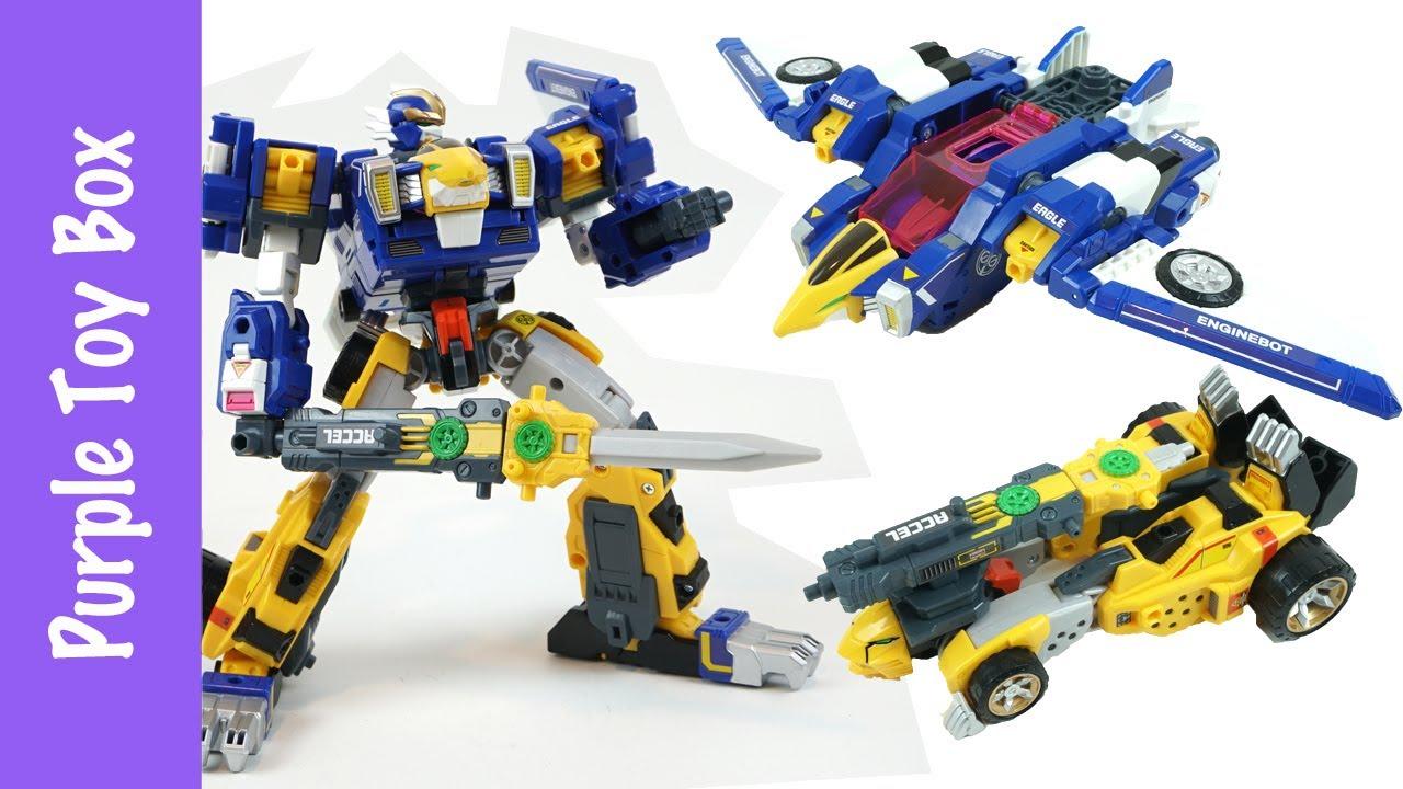 Eagle + Cheetah Combination Transformer Tomica 엔진봇 이글 치타