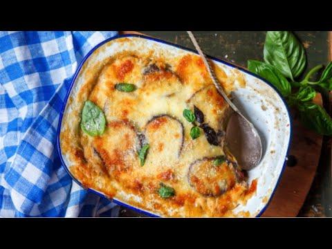 recette-grecque -la-moussaka-facile -gratin-d'aubergines-au-poulet