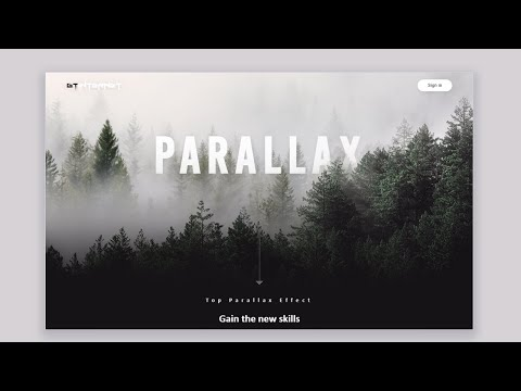 Awesome Parallax Effect Using HTML CSS and JavaScript | Speed Coding | Going To Internet