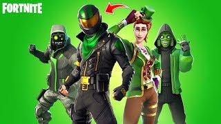 *NEW STYLES* St. Patrick's Skins in Fortnite: battle royale!! Green Clover Sergeant Returns