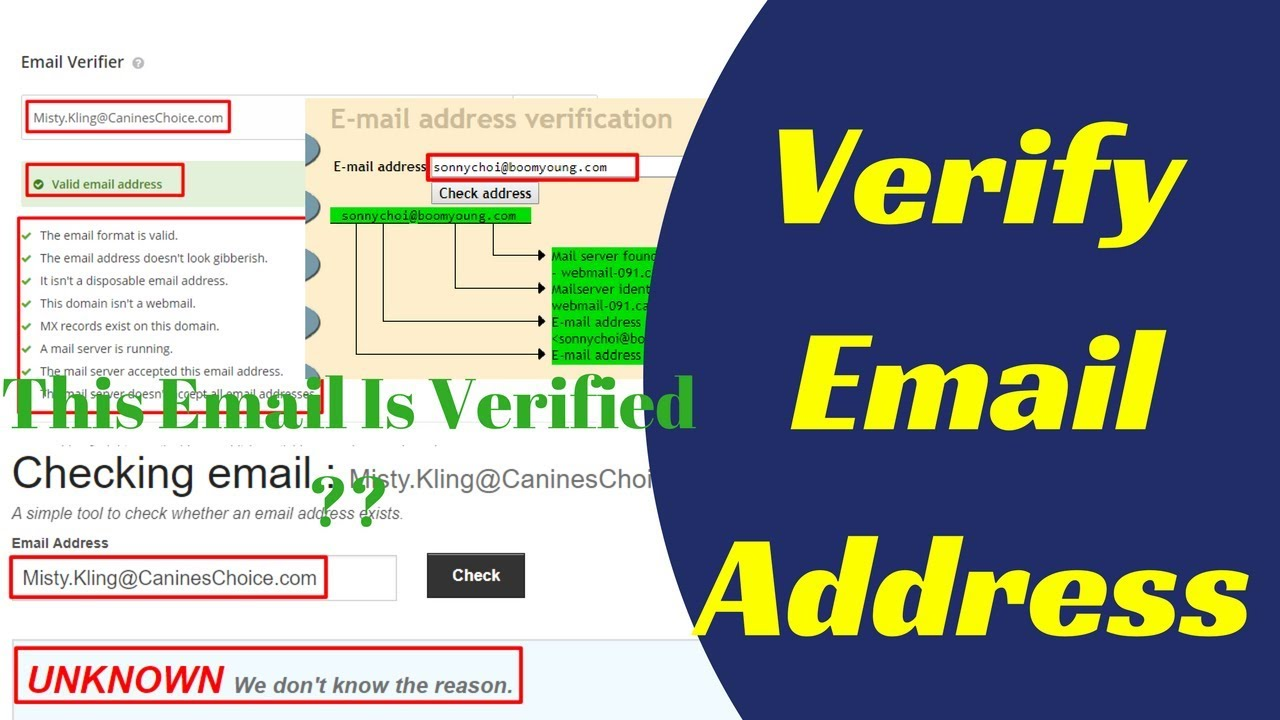 How To Verify Email Address Online Check Email Address 2018 Youtube