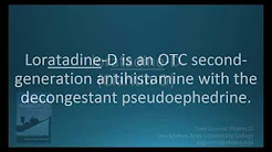 How to pronounce loratadine-D (Clairitin-D)  (Memorizing Pharmacology Flashcard)