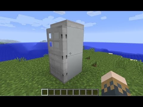 Minecraft How To Make A Fridge That Works Minecraft Refrigerator That Works Youtube
