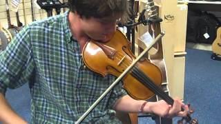 Richard playing a Cremona SV-150 Violin @ Hobgoblin Music Birmingham