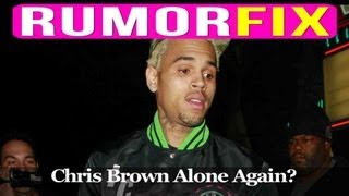 """Sad"" Chris Brown Goes Clubbing In Hollywood"
