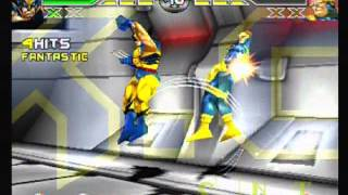 X-Men Mutant Academy - PS1 Gameplay (Wolverine vs Cyclops)