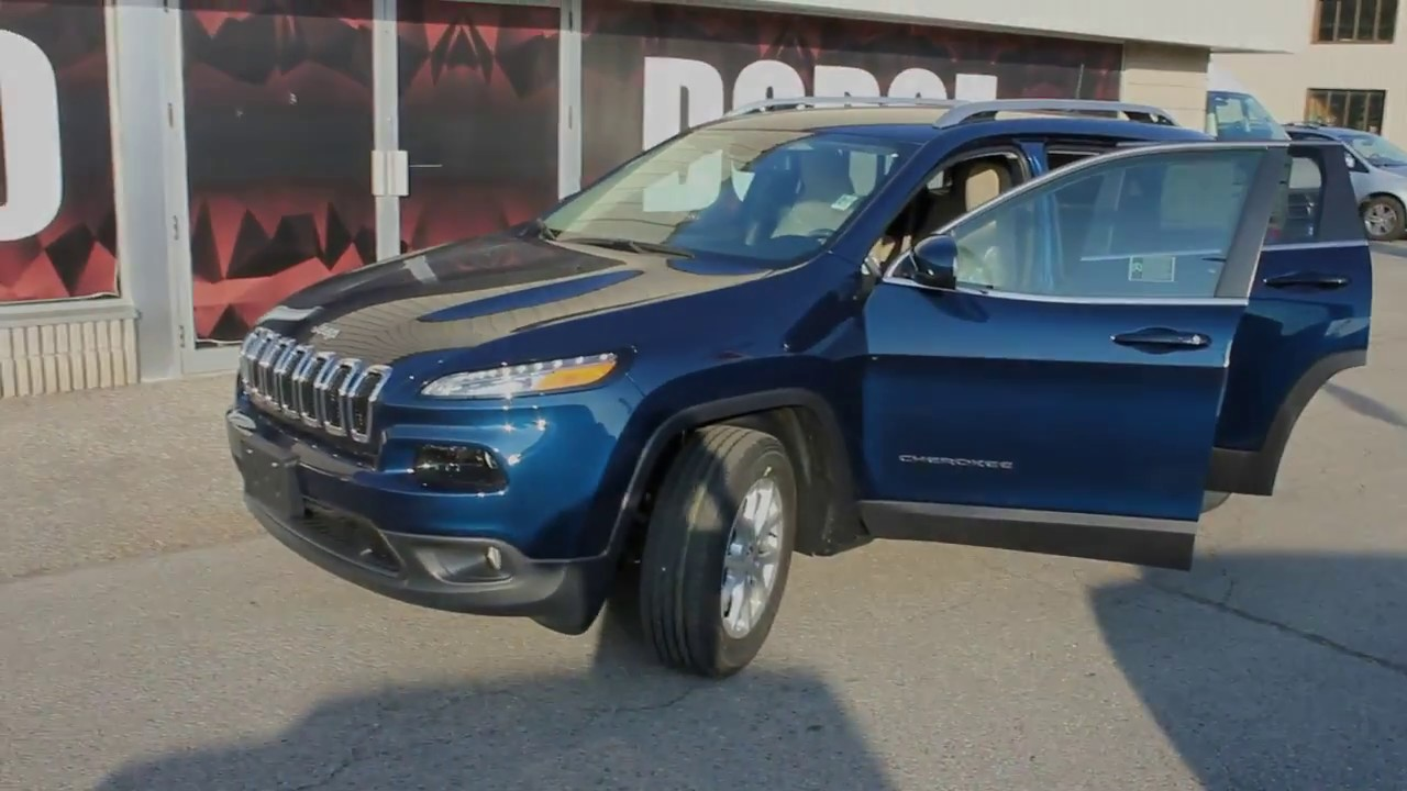 2018 jeep cherokee north patriot blue at waterloo dodge youtube. Black Bedroom Furniture Sets. Home Design Ideas
