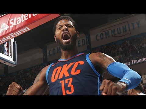 Thunder Win Without Westbrook, Carmelo! Paul George 33 Pts! 2017-18 Season
