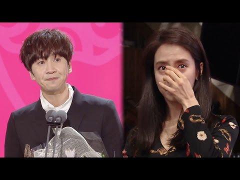 [Eng Sub] Lee Kwang Soo Wins Top Excellence Award(feat. Jihyo)!!! @2016 SAF EP02