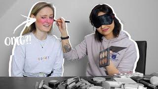 BLINDFOLDED MAKEUP CHALLENGE (FAIL) | Talia Mar W/ FREYA NIGHTINGALE