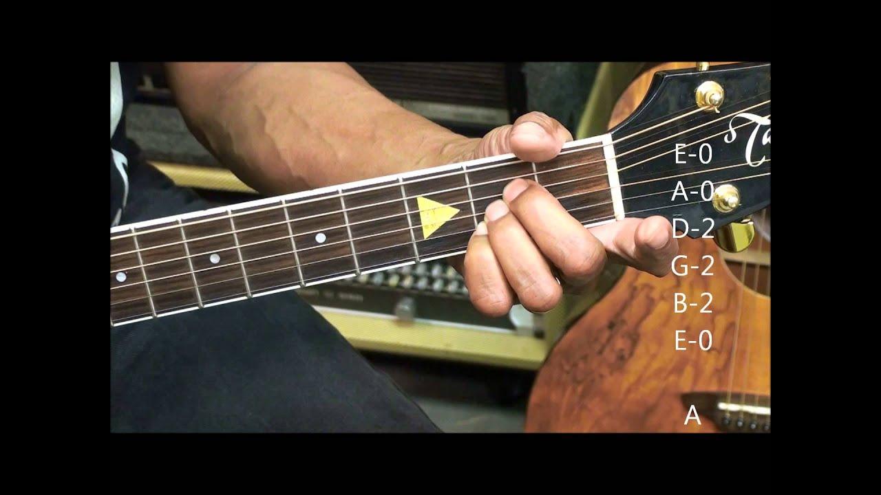Guitar Chord Form Tutorial 229 Meghan Trainor Style E Bm11 A Tabs