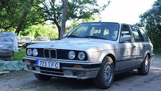 Starting 1992 BMW E30 324TD And Test Drive