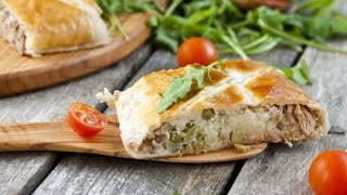 Пирог из слоеного теста с тунцом - Russian Pie Coulibiac