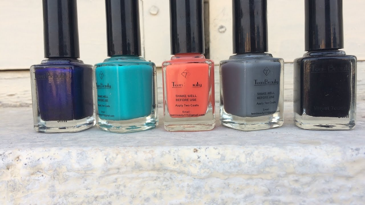 Teen Beauty Matte Nail Paints | Indian Drug Store Brands | Swatches ...
