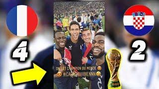 Players Reaction To France vs Croatia 4-2 | Ft Mbappe, Modric, Pogba (World Cup 2018)