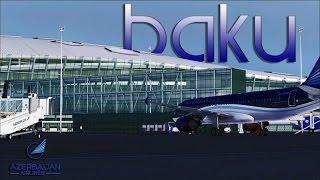 FSX [HD] - Azerbaijan Airlines | Airbus A320 | Overcast Approach to Baku