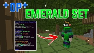FIRST PLAYER TO GET *OP* EMERALD ARMOR: HYPIXEL SKYBLOCK