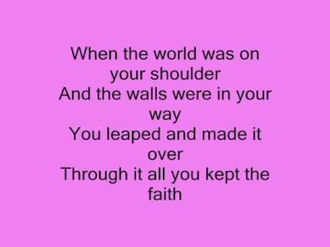R Kelly  I believe with lyrics