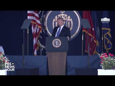 WATCH: President Trump Speaks At US Naval Academy Graduation