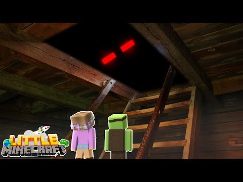 WHAT'S IN THE ATTIC? Little Minecraft | Little Kelly & Tiny