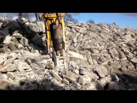 Extreme Machines Crushing Concrete and Steel  HydremagAG Attachments in Action