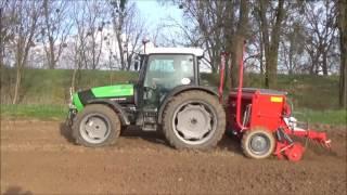 Deutz zielony, poznaniak czerwony od ziemi cały zakurzony, sowing barley in 2016 ! | Agro Huta