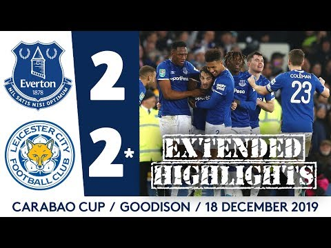 EXTENDED HIGHLIGHTS: EVERTON 2-2* LEICESTER   BAINES NETS SCREAMER BUT BLUES OUT ON PENS