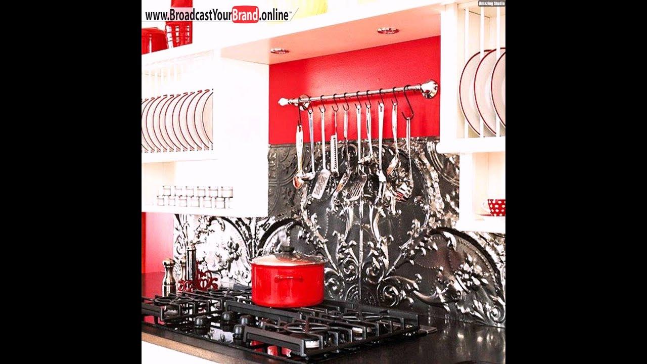 k chenr ckwand ideen metall fliesenspiegel youtube. Black Bedroom Furniture Sets. Home Design Ideas