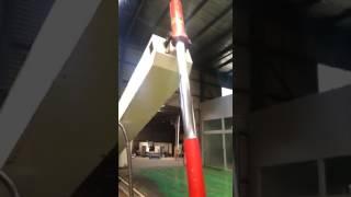 Testing of dump truck telescopic hydraulic cylinder