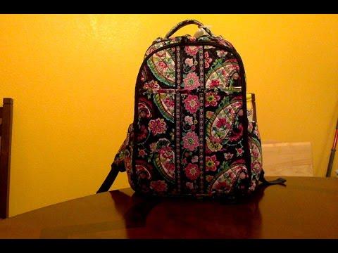 f0ede4ee6c6 Vera Bradley backpack diaper bag review whats in my diaper bag - YouTube