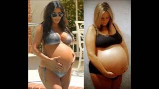 Repeat youtube video Biggest pregnant belly ever World Record!