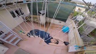 Turchia, un macchinario per nuotare senz'acqua: l'allenamento del giovane atleta