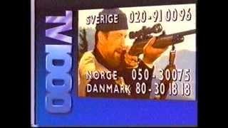 Reklame/pause-blok fra Skandinavisk TV3 fra sidst i 1980