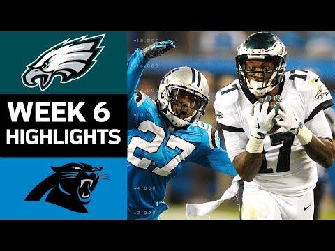 Eagles vs. Panthers | NFL Week 6 Game Highlights