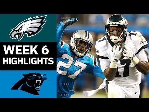 Eagles vs. Panthers | NFL Week 6 Game Highlights