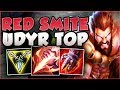 TROLL OR 200 IQ BUILD?? RED SMITE UDYR IN TOP! SMITE UDYR SEASON 8 TOP GAMEPLAY! - League of Legends
