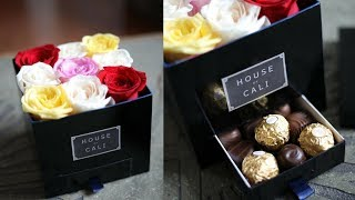 [ORIGINAL] DIY ROSE BOX WITH CHOCOLATE! - COMO HACER CAJA DE ROSAS CON CHOCOLATES.