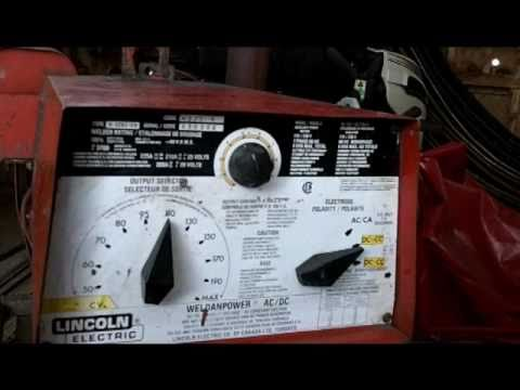 Bulletproof welder 1981 Lincoln Weldanpower 225 - YouTube
