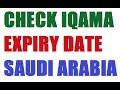 CHECK IQAMA EXPIRY DATE - SAUDI ARABIA
