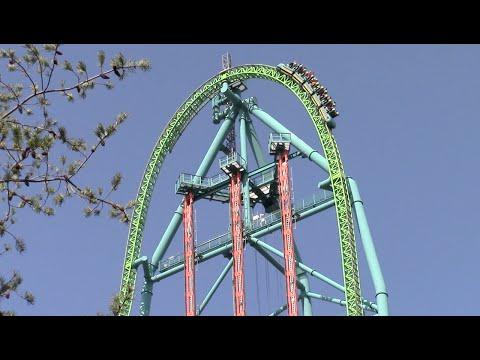 Kingda Ka Off-Ride Six Flags Great Adventure HD 60fps