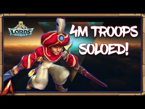 Soloing 4M Troops! What NOT To Do When Being Rallied! Lords Mobile