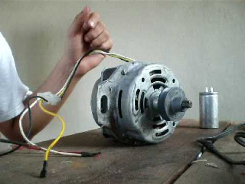 single phase ac fan motor wiring diagram house of quality six sigma induction 1 manual start removing capacitor youtube