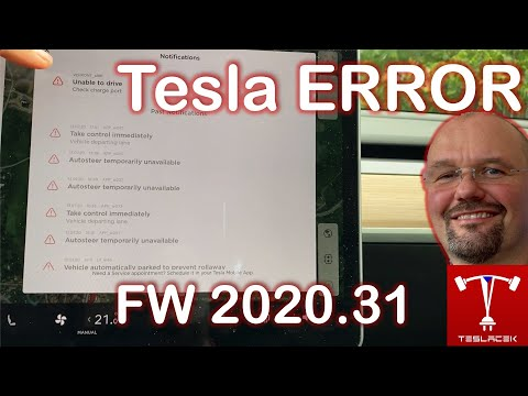 #210 Tesla OS FW 2020.32.1 Notifikace a automatické zavírání oken | Teslacek